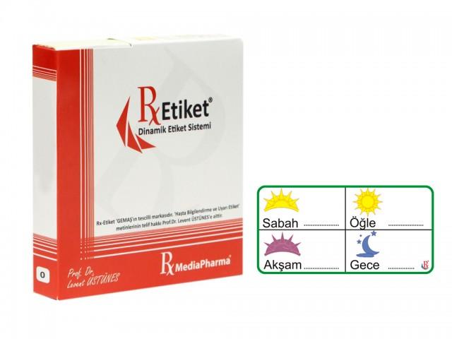 RxMediaPharma® RxEtiket® No.0 1000 Etiketli Tek Kutu