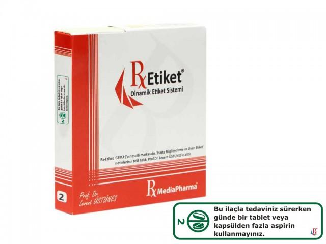 RxMediaPharma® RxEtiket® No. 2 1000 Etiketli Tek Kutu