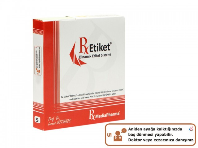 RxMediaPharma® RxEtiket® No. 5 1000 Etiketli Tek Kutu