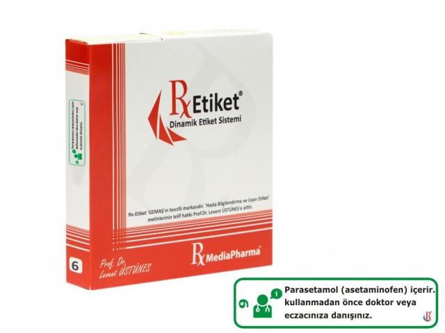 RxMediaPharma® RxEtiket®  No.6 1000 Etiketli Tek Kutu