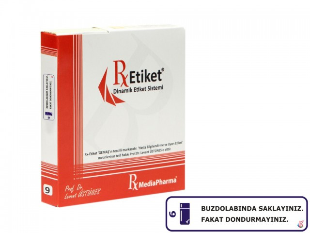 RxMediaPharma® RxEtiket® No.9 1000 Etiketli Tek Kutu