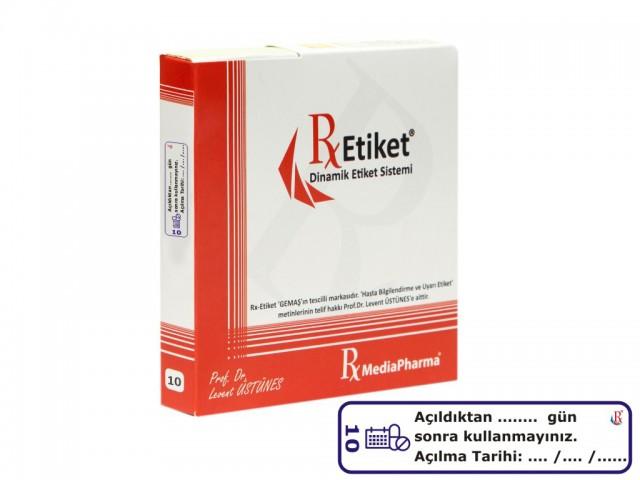 RxMediaPharma® RxEtiket® No. 10 1000 Etiketli Tek Kutu
