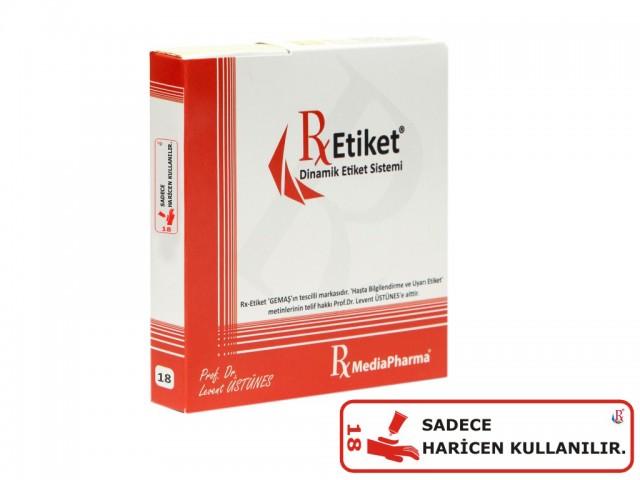 RxMediaPharma® RxEtiket® No.18 1000 Etiketli Tek Kutu
