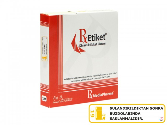 RxMediaPharma® RxEtiket® No.19 1000 Etiketli Tek Kutu