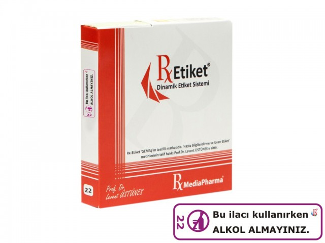 RxMediaPharma® RxEtiket® No.22 500 Etiketli Tek Kutu