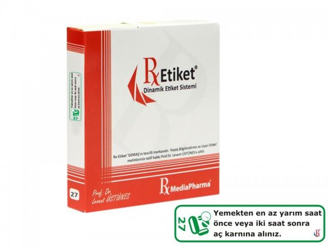 RxMediaPharma® RxEtiket® No. 27 500 Etiketli Tek Kutu