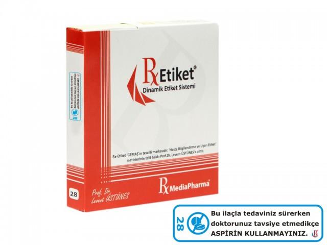 RxMediaPharma® RxEtiket® No. 28 500 Etiketli Tek Kutu
