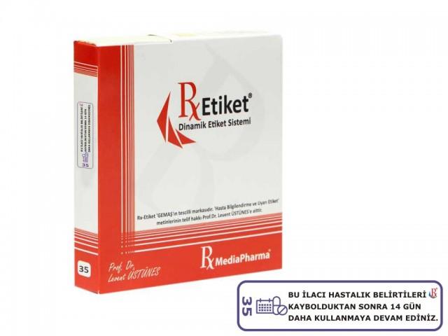 RxMediaPharma® RxEtiket® No.35 500 Etiketli Tek Kutu