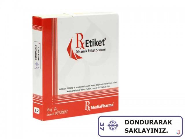 RxMediaPharma® RxEtiket® No.37 500 Etiketli Tek Kutu