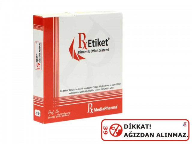 RxMediaPharma® RxEtiket® No.39 500 Etiketli Tek Kutu