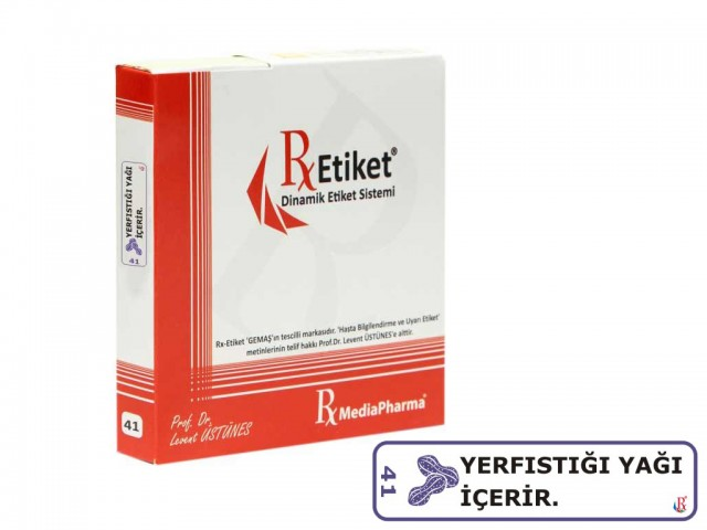 RxMediaPharma® RxEtiket® No.41 500 Etiketli Tek Kutu