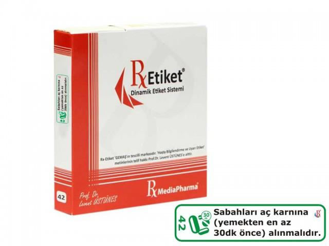 RxMediaPharma® RxEtiket® No.42 500 Etiketli Tek Kutu