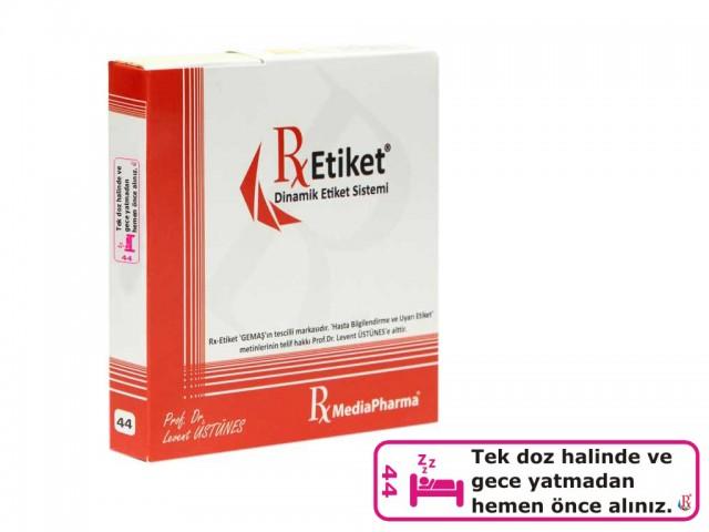 RxMediaPharma® RxEtiket® No.44 500 Etiketli Tek Kutu