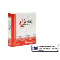 RxMediaPharma® RxEtiket® No.45 500 Etiketli Tek Kutu