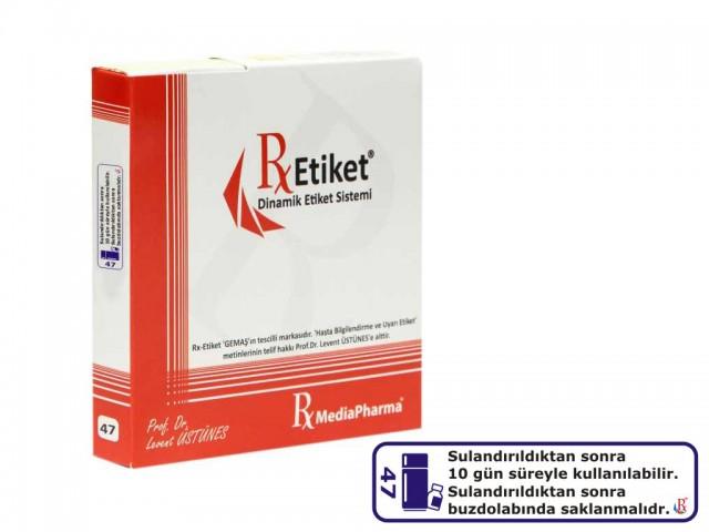 RxMediaPharma® RxEtiket® No. 47 500 Etiketli Tek Kutu