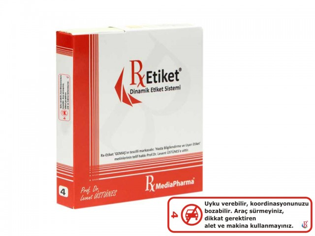 RxMediaPharma® RxEtiket® No. 4 1000 Etiketli Tek Kutu