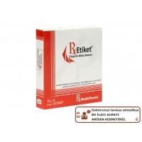 RxMediaPharma® RxEtiket® No.12 1000 Etiketli Tek Kutu