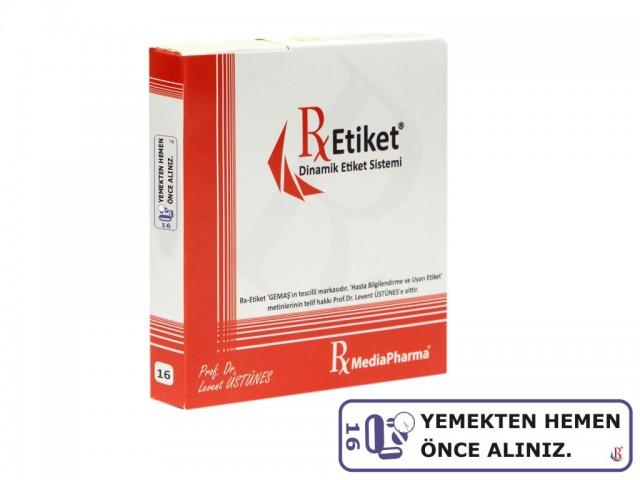 RxMediaPharma® RxEtiket® No.16 1000 Etiketli Tek Kutu