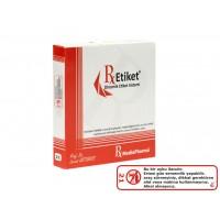 RxMediaPharma® RxEtiket® No.21 500 Etiketli Tek Kutu