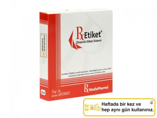 RxMediaPharma® RxEtiket® No.23 500 Etiketli Tek Kutu
