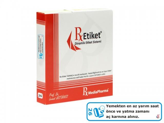 RxMediaPharma® RxEtiket® No. 26 500 Etiketli Tek Kutu