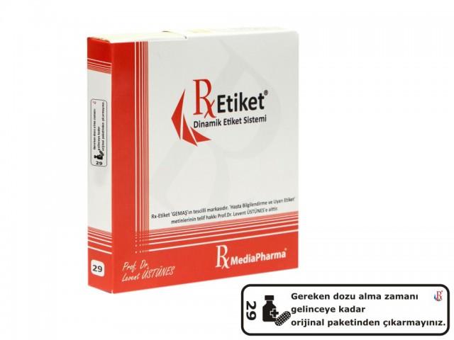 RxMediaPharma® RxEtiket® No.29 500 Etiketli Tek Kutu