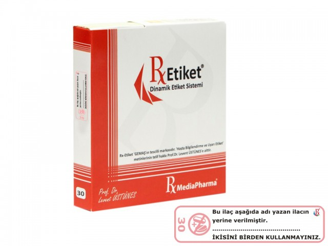 RxMediaPharma® RxEtiket® No.30 500 Etiketli Tek Kutu