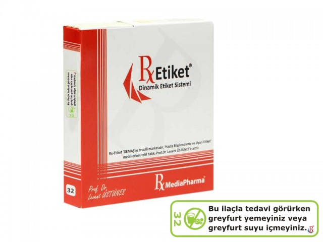 RxMediaPharma® RxEtiket® No. 32 500 Etiketli Tek Kutu