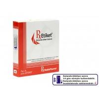 RxMediaPharma® RxEtiket® No. 46 500 Etiketli Tek Kutu